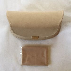 NEW Chloe sunglasses case and cloth